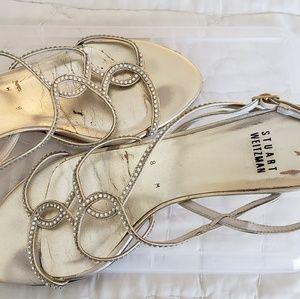 Stewart Weitzman gold sandals